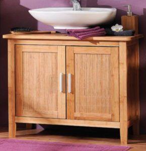 Badezimmer Unterschrank Bambus Badezimmer Unterschrank