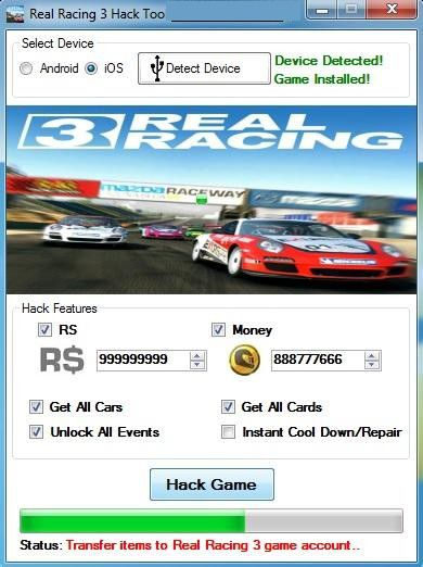Real Racing 3 Hack Add Unlimited Cash And Gold 1 Minute No Root