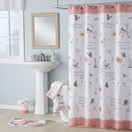 Home Fabric Shower Curtains Pretty Bathrooms Shower Curtains Walmart