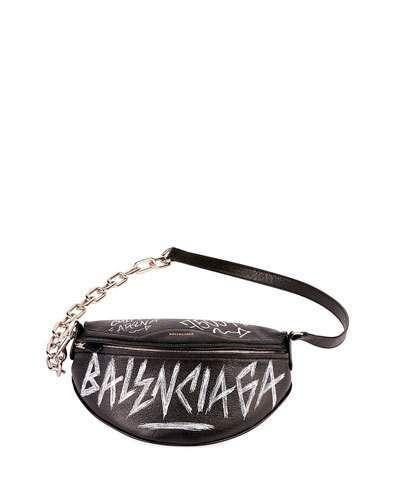 004b8ea73ff Balenciaga Graffiti-Print Fanny Belt Bag