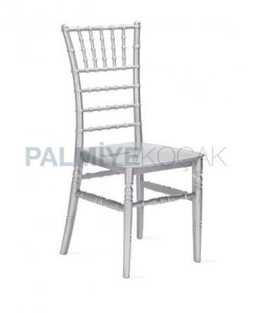 gumus renkli plastik tiffany sandalye sandalye ic dekorasyon ic mekan
