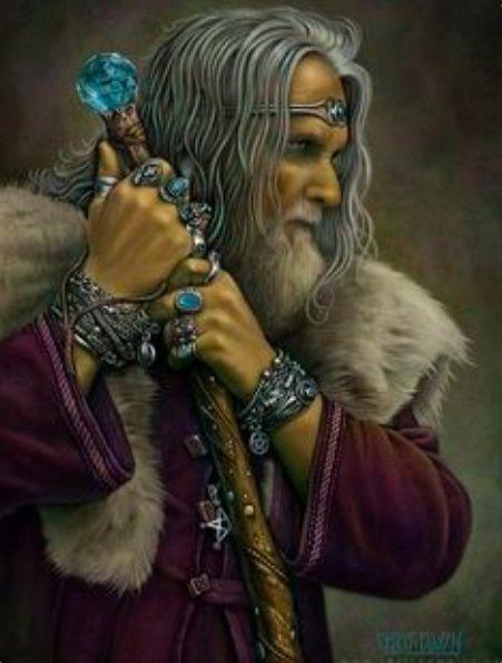 Donjonetdragon Sorcier Wiard Magicien Homme Man Baton Old Magie Staff Mythologie Celte Personnages Art Celte