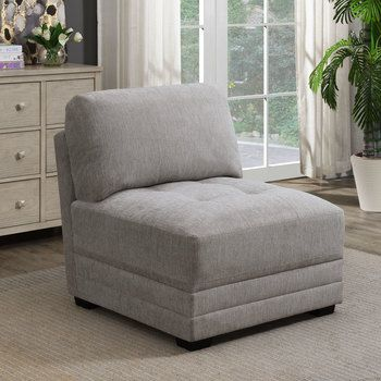 Mstar International Norris Modular Fabric Armless Chair In 2020