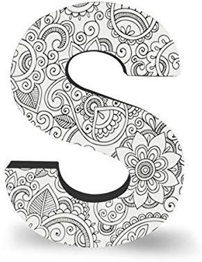 Amazon Com Colorjoy Coloring Products Large Wall Hanging Block Letter S Doodle Art Letters Doodle Art Designs Mandala Design Art