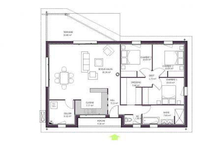 Plan maison moderne 9 chambres Hélios  Plan maison, Plan maison