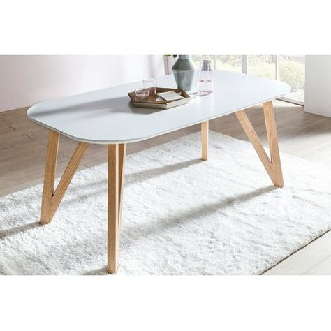 Madalyn Dining Table Isabelline Colour Table Top White