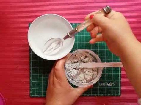 Tutorial: cómo elaborar la pasta de textura casera - para stencil con relieve YouTube castellano