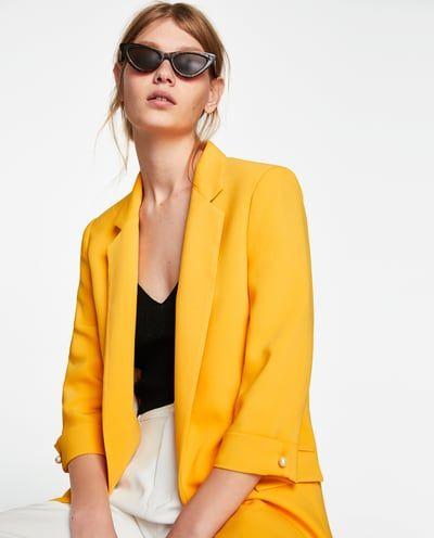 Blazer larga | Blaser largo, Blazers y Online zara
