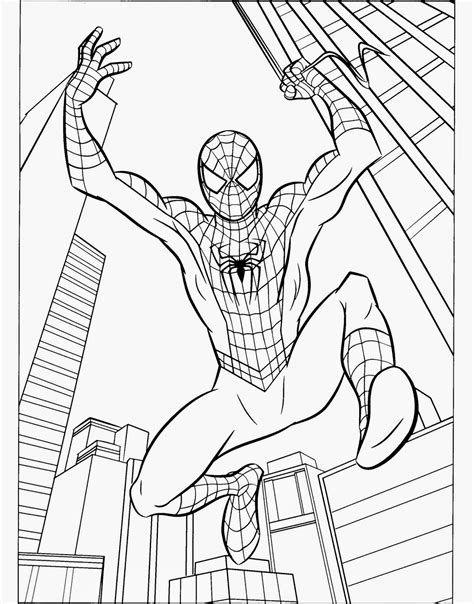 Ultimate Spiderman Coloring Pages Dengan Gambar Halaman
