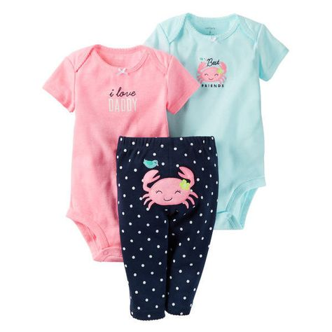 Carter's Baby Girls Little Character Set (Pink Crab) Months