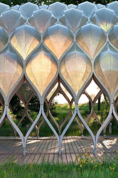 Nature Boardwalk At Lincoln Park Zoo Detail Modlar Com Biomimicry Architecture Pavilion Architecture Installation Architecture