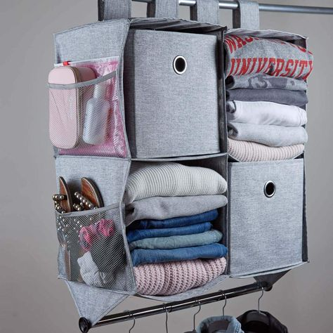 Looking for solutions or ideas on how to organize your dorm room or apartment closet? Dormify has plenty of unique solutions that will help you maximize the closet space in your dorm or apartment. College Dorm Closet, Dorm Room Closet, College Bedroom Decor, College Room, Usc Dorm, College Dorm Storage, College Shoes, College Dorm Essentials, College Packing