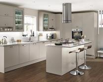greenwich stone kitchens feature matt stone slab doors creating a contemporary look - Stone Slab Kitchen Decor