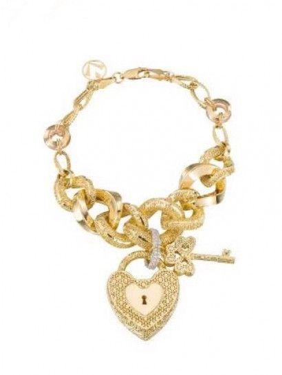 أحدث أطقم لازوردى Gold Jewelry Charm Bracelet