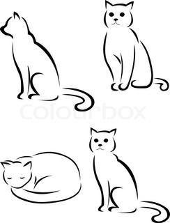 25 Katze Silhouette Katze Tatowierung Katzen Silhouette Katzen Tattoo Silhouette Katze Zeichnen