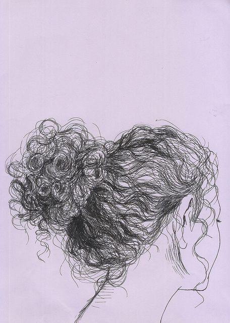 Картинки кудрявых девушек нарисованные пучок