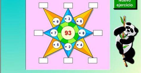 """Juego de """"Cálculo mental de sumas""""  IDEAL PARA NIÑOS A PARTIR DE 9 AÑOS.  http://www.seclen.com/juego_interno.php?id_juego=122"""