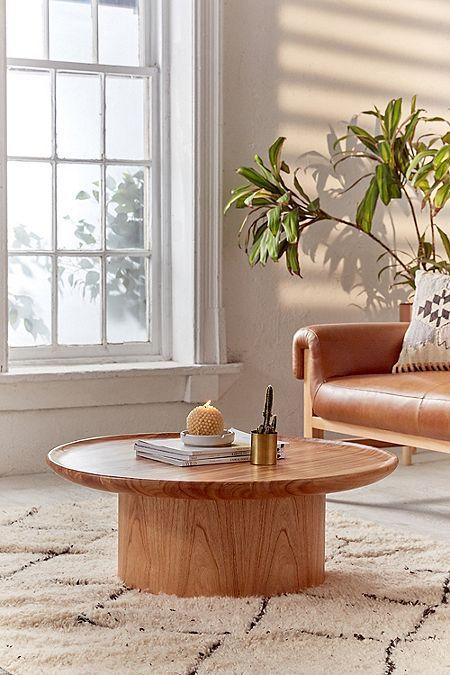 Matro Wood Coffee Table Round Coffee Table Modern Coffee Table