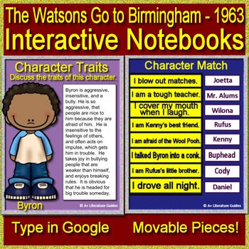 The Watsons Go To Birmingham Interactive For Google Classroom