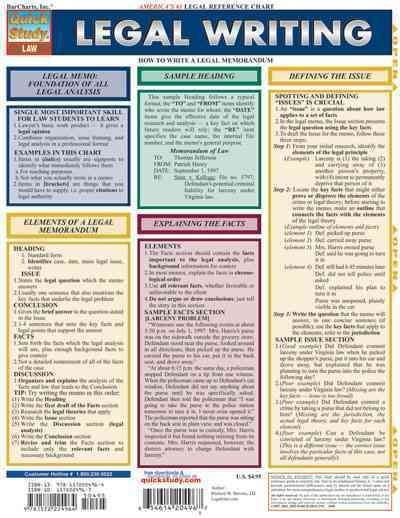 Legal Writing Quick Reference Guide Studying Law Law School Writing Services