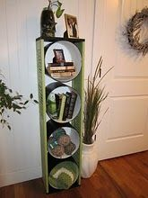 Cement Forms and old Window Shutters turned shelf. Cute!