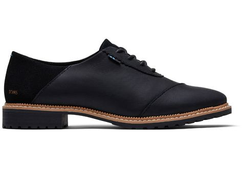 Black Leather and Suede Women's Ainsley Dress Casuals   TOMS®