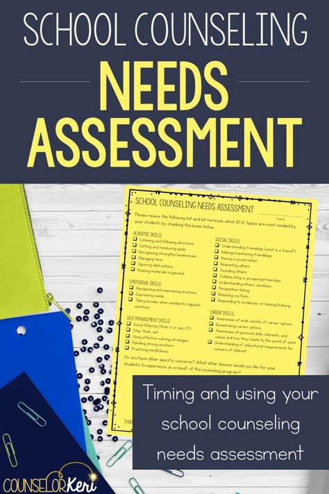 School Counseling Needs Assessment Free Download