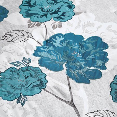 7f3bdb0d8aca4dad1470046da1beefda - Better Homes And Gardens Teal Flowers 5 Piece Set