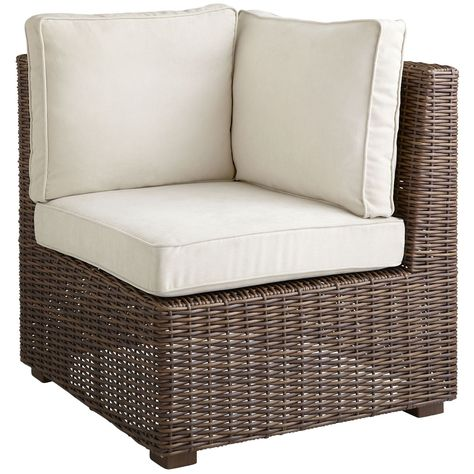 Echo Beach Corner Chair Latte Outdoor