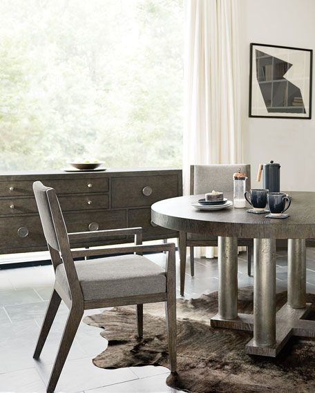 Bernhardt Linea Four Posted Round Dining Table Round Dining