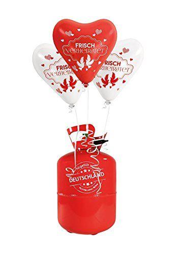 35x Herzballons Frisch Verheiratet Beidseitig Bedruckt Rot Weiss O30cm Helium Ballongas Portofrei 50x Bal Ballons Hochzeit Hochzeitsballons Hochzeit Spiele
