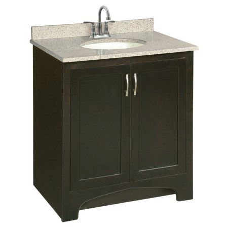 Design House 541250 Ventura Unassembled 2 Door Vanity Without Top 30 Espresso Walmart Com Bathroom Vanities Without Tops Single Bathroom Vanity Bathroom Vanity Base
