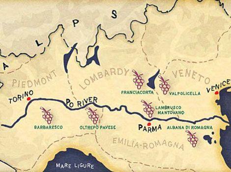 PORiverMap River Po Map WaterfallMOUNTAINRiverLAKE - Po river