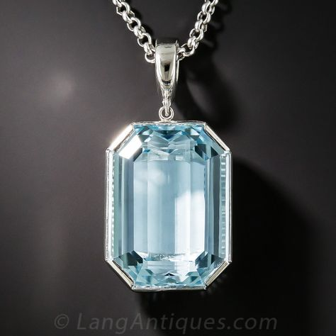 925 Sterling Silver Women Pendant Faceted Man Made Sky Blue Aquamarine Women Pendant Octagon Aquamarine Man Made Gemstone Pendant