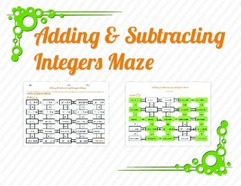 photo about Adding and Subtracting Integers Printable Games named Pinterest