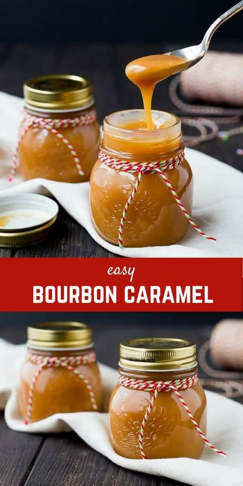 Perfect for both gift giving and parties, this bourbon caramel sauce will become. - Perfect for both gift giving and parties, this bourbon caramel sauce will become an instant favorit - Dessert Diet, Dessert Sauces, Köstliche Desserts, Delicious Desserts, Dessert Recipes, Yummy Food, Gelato, Bourbon Caramel Sauce, Sauces