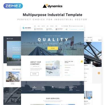 Industrial Multipage Website Template Templatemonster Website Template Business Website Design Templates Website Template Design