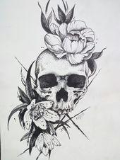 50 Skull Pencil Drawing Ideas - Art - #art #Drawing #Ideas #Pencil #skull
