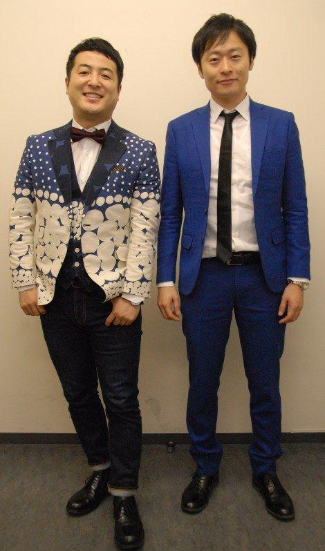 M-1優勝への思いを語る和牛の水田信二(左)と川西賢志郎