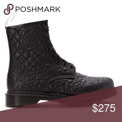 pretty rose quilting on this new doc marten boot. this is