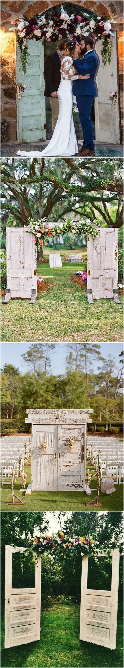 Vintage Rustic Old Door Wedding Backdrops #weddings #rusticweddings #weddingideas #weddingbackdrops