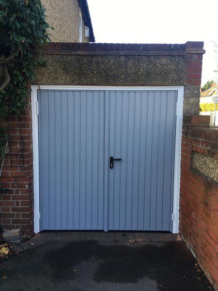Garador Side Hinged Garage Door Grey Swr Redefining Homes Side Hinged Garage Doors Garage Door Types Garage