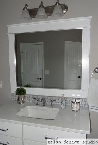 Diy Framed Bathroom Mirrors Bathroom Mirror Frame Bathroom