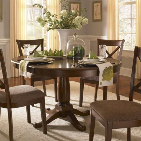 A America Desoto Oval Extendable Dining Table Walmart Com Space Saving Dining Room Dining Room Table Decor Round Dinning Room Table