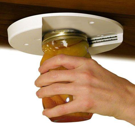 EZ Off Jar Opener - Under Cabinet Jar Lid & Bottle Opener - Great for Seniors & Weak or Arthritic Hands