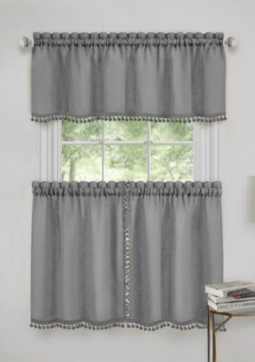 Achim Wallace Window Kitchen Curtain Tier Pair And Valance Set