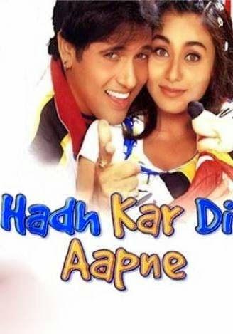Hadh Kar Di Aapne 2000 Hindi Hdrip 480p 400mb Free Movie Movie Archive Movies Free Movies