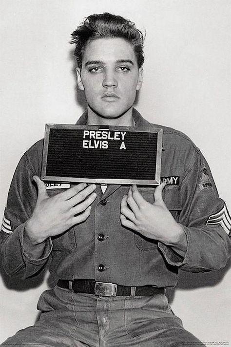 Elvis Mug Shot Poster