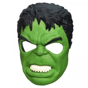 The Avengers: Age of Ultron Hulk Mask has an adjustable elastic strap and padded nosepiece.