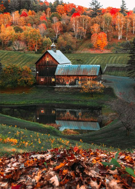 Charming Woodstock, Vermont & Classy Girls Wear Pearls The post Charming Woodstock, Vermont autumn scenery appeared first on Trendy. Country Barns, Old Barns, Country Roads, Beautiful World, Beautiful Places, Woodstock Vermont, Autumn Scenes, Autumn Cozy, Autumn Fall
